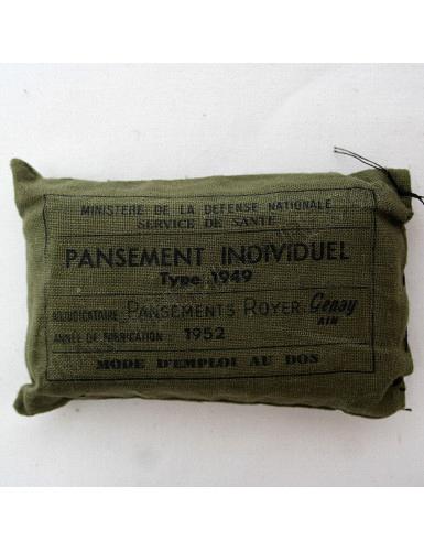Pochette de pansements Armée française Guerre d'Algérie