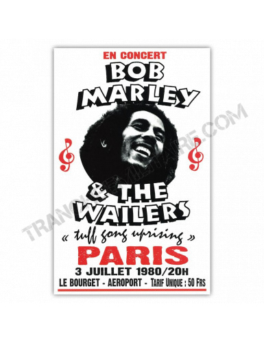 Affiche Bob Marley and The Wailers
