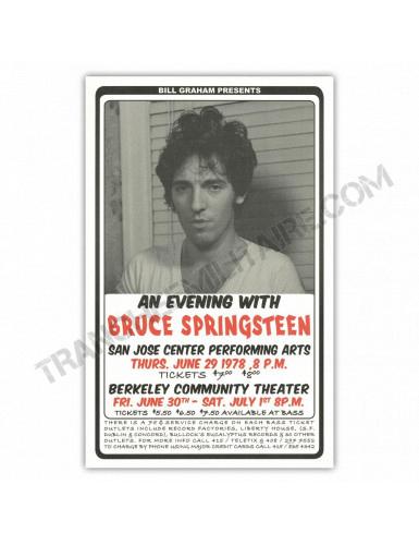 Affiche Bruce Springsteen