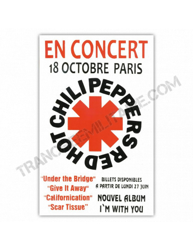 Affiche Red Hot Chili Peppers
