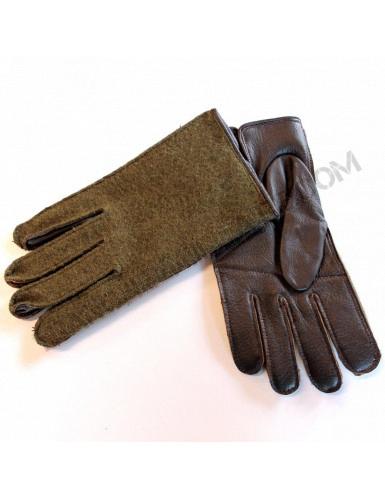 Gants Armée française paume cuir dessus jersey/laine