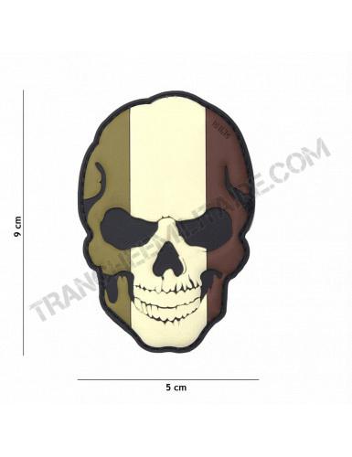 Patch 3D PVC Tête de mort France (BV)