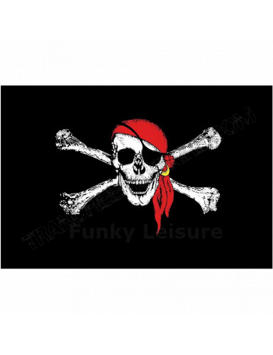 Drapeau Jolly Roger Red Cap