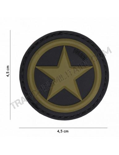 Patch 3D PVC étoile USA