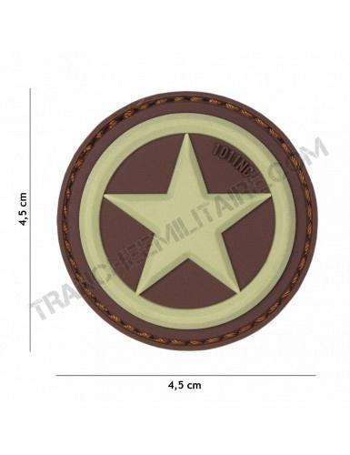 Patch 3D PVC étoile USA (sable)