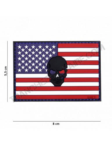 Patch 3D PVC USA tête de mort