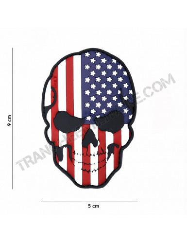 Patch 3D PVC Tête de mort USA