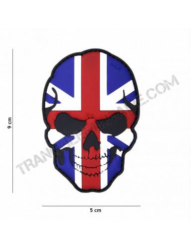Patch 3D PVC Tête de mort Grande Bretagne