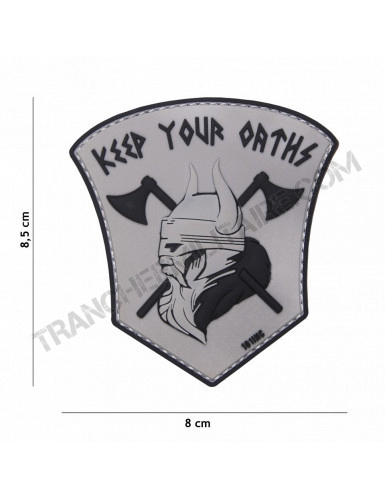 """Patch 3D PVC Vicking """"Keep your Orths"""""""