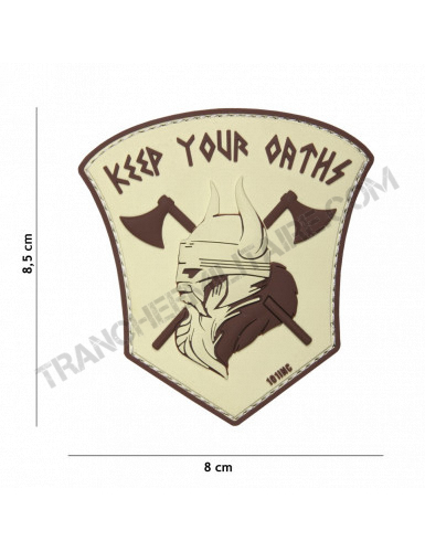 """Patch 3D PVC Vicking """"Keep your Orths"""" (sable)"""