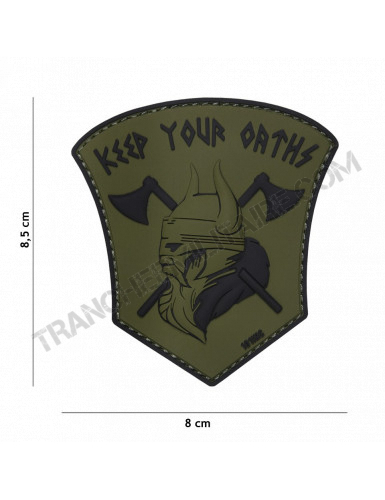"""Patch 3D PVC Vicking """"Keep your Orths"""" (vert)"""