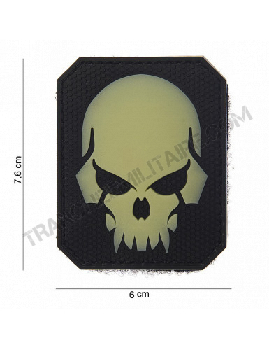 "Patch 3D PVC "" Pirate Skull "" phosphorescent"