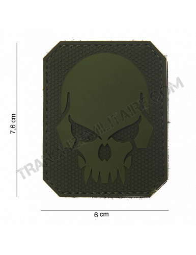 "Patch 3D PVC "" Pirate Skull "" vert"