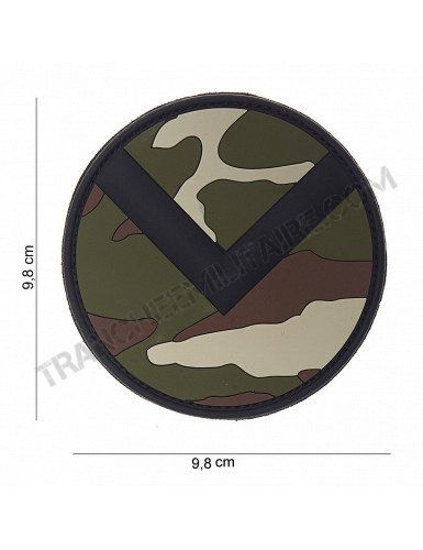 Patch 3D PVC bouclier Spartiate (woodland)