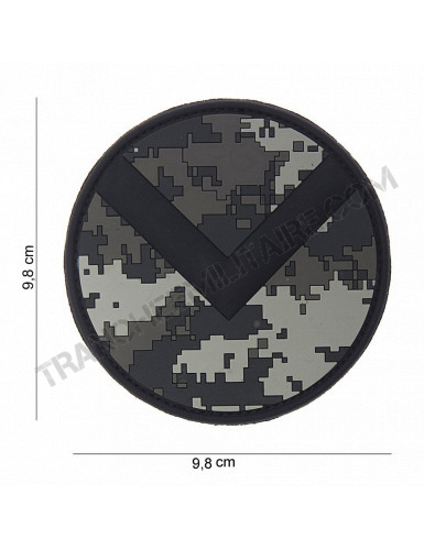 Patch 3D PVC bouclier Spartiate (ACU)