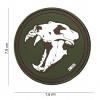 Patch 3D PVC Tigre aux dents de sabre (vert)