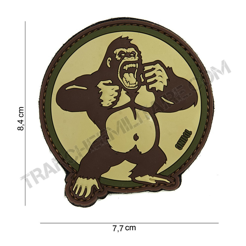 Patch 3D PVC King Kong (sable)