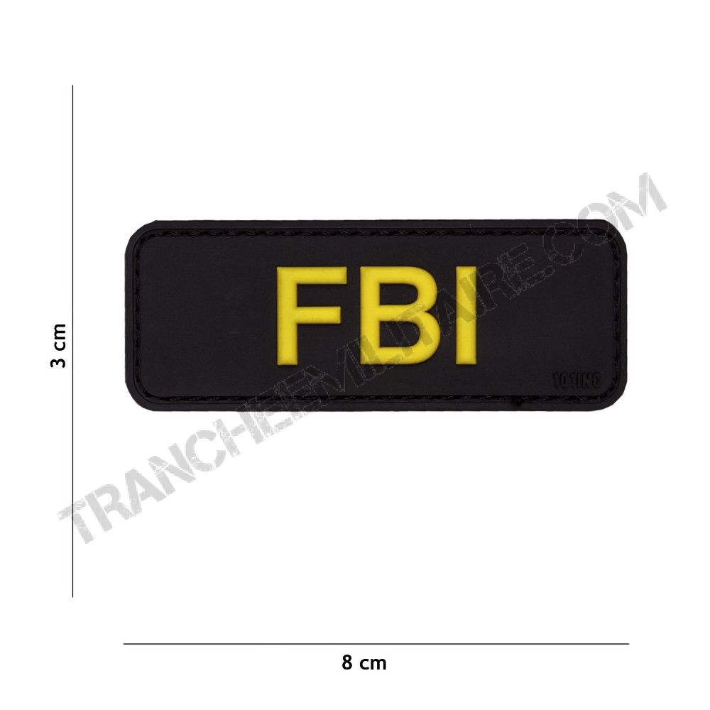 Patch 3D PVC FBI