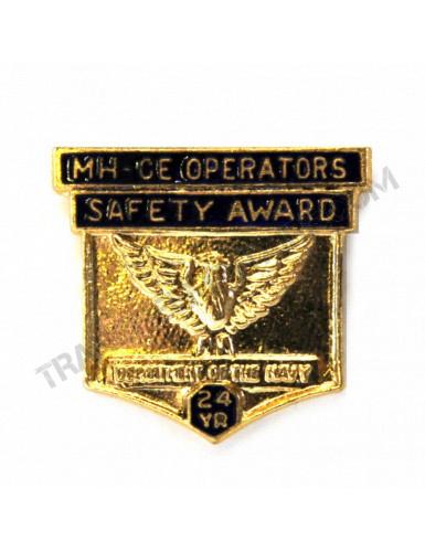 """Bouton de revers """"Sécurité opérateurs 24 ans"""" US Navy et USMC"""