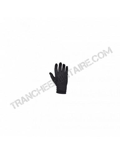 Sous gants soie noir