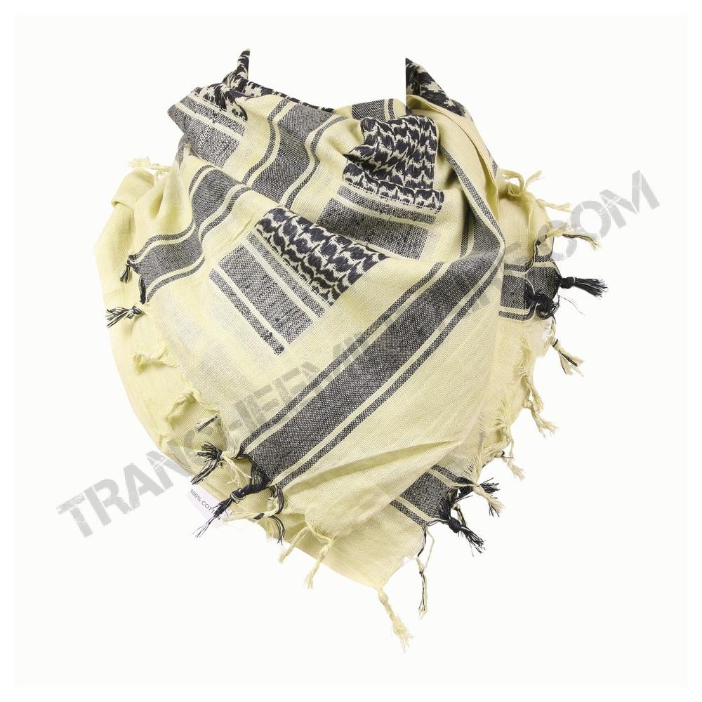 jaune//noir Keffieh écharpe saharienne