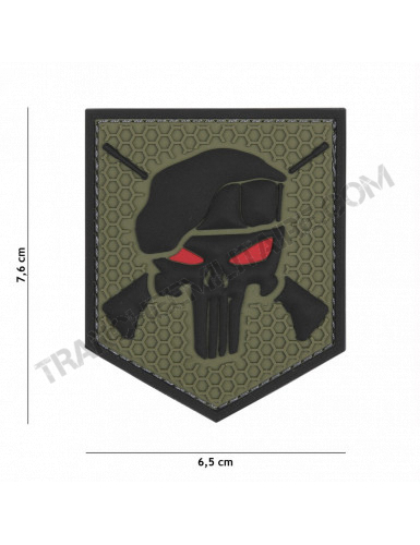 Patch 3D PVC Commando Punisher (vert)