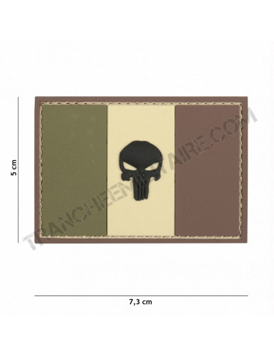 Patch 3D PVC Punisher France (marron)