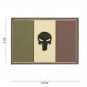 Patch 3D PVC Punisher France (marron)