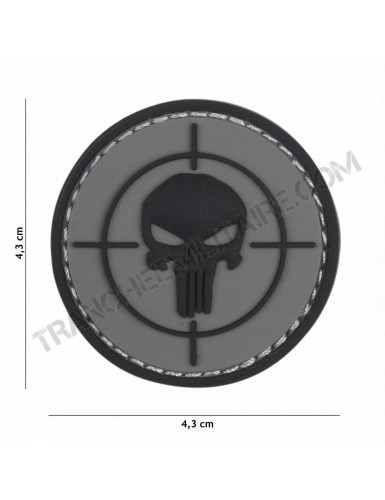 Patch 3D PVC Punisher cible (gris)