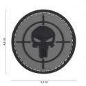 Patch 3D PVC Punisher cible (gris)