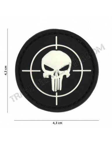 Patch 3D PVC Punisher cible (noir)