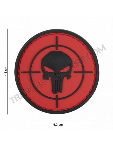 Patch 3D PVC Punisher cible (rouge)