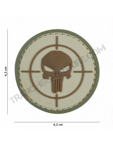Patch 3D PVC Punisher cible (coyote)