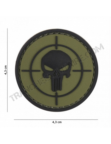 Patch 3D PVC Punisher cible (vert)
