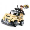 """Briques type Légo """"Jeep patrouille"""""""