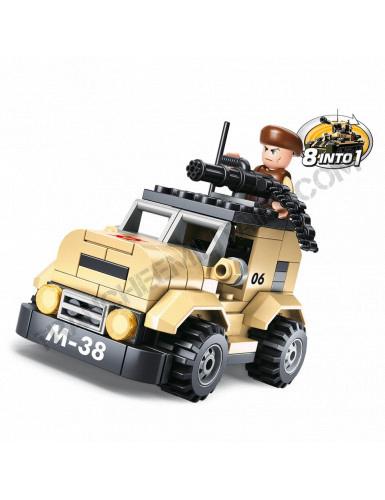 """Briques Sluban """"Jeep patrouille"""" (M38-B0587A)"""