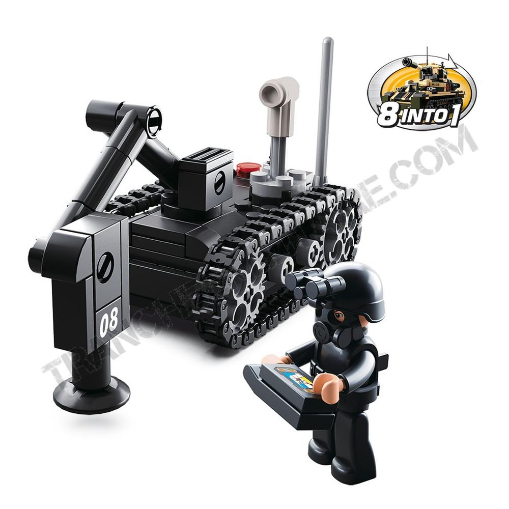 """Briques type Légo """"Robot démineur"""""""
