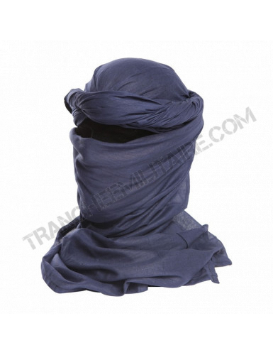 Chèche bleue marine (100% coton)