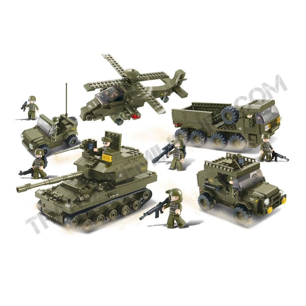 """Briques Sluban  """"véhicules militaires"""" (M38-B0311)"""