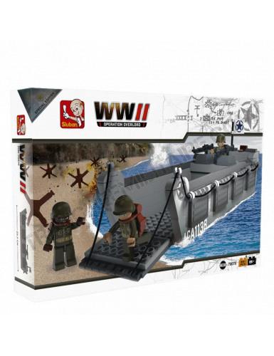 """Briques Sluban """"Navire de débarquement et d'assaut WWII (M38-70070)"""
