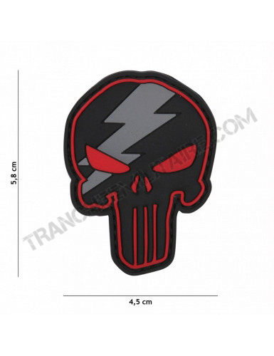 Patch 3D Punisher tonnerre rouge