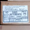 Caleçon chaud Armée française (original)