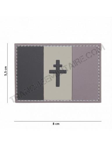 Patch 3D PVC France Libération (gris)