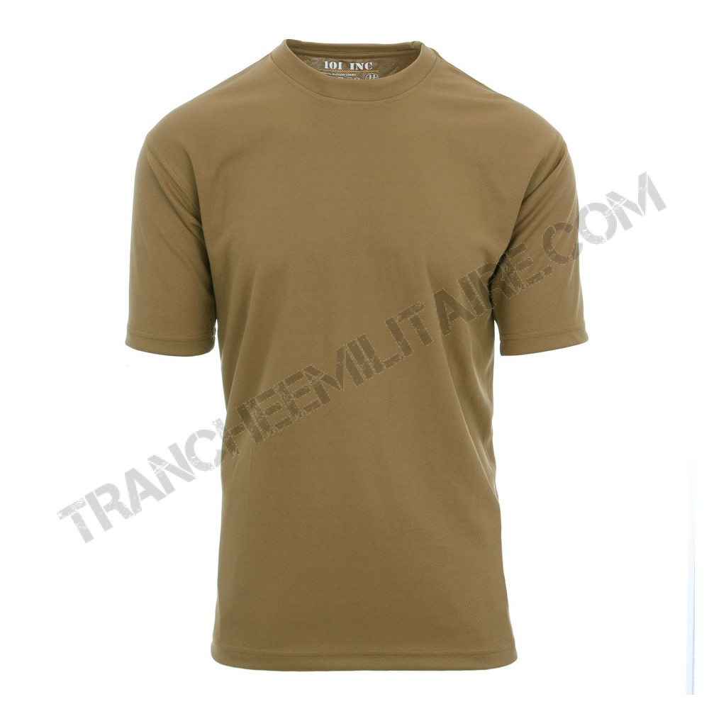 T-shirt tactique 101 Inc. séchage rapide (coyote)