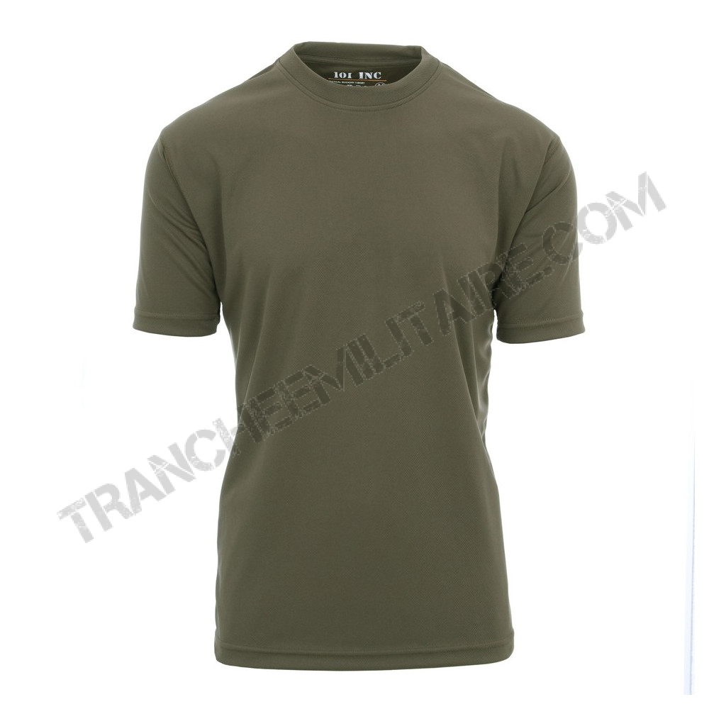 T-shirt tactique 101 Inc. séchage rapide (vert)