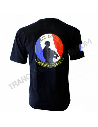 T-shirt Soutenons nos troupes (Paratrooper Inc.)
