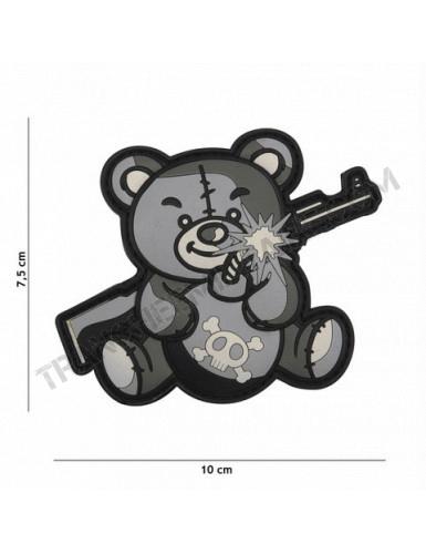 Patch 3D Terror Teddy (gris)