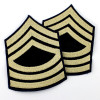 "Lot de 2 Grades US Army ""Master Sergeant"" (reproduction)"
