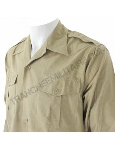 Chemise beige Armée française années 50-60 type Algérie