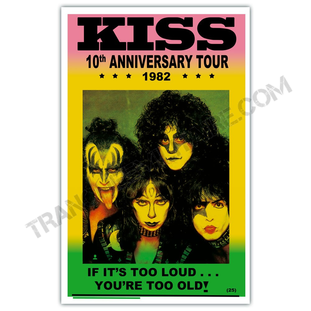 Affiche KISS 10è anniversaire